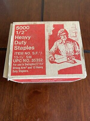 Swingline S.f. 13 12 Inch Heavy Duty Staples 120 Page 5000 Per Box Chisel Point