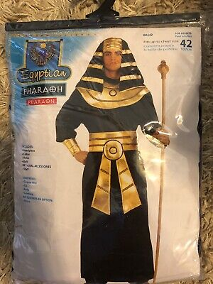 "Mens Egyptian Pharaoh Costume - One Size - Up To 42"" Chest Size"