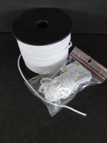 3,5 mm (5 Mètres) ELASTIQUE de remontage en COTON pour POUPEE- Stringing Elastic