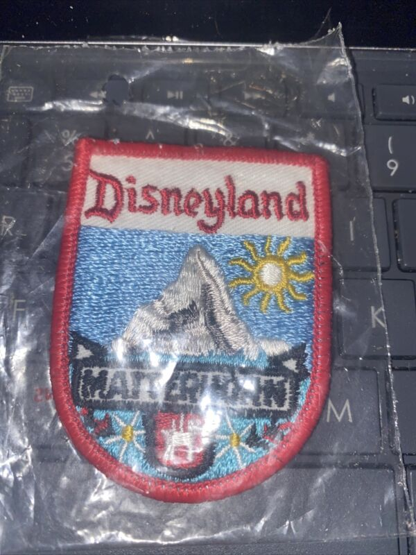 Patch Disneyland MATTERHORN  New In Package Vintage