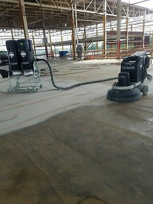 Used Htc 950rx Concrete Grinderpolisher With Vacs And Accesories