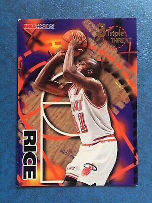 Triple Threat Hoops - Glen Rice 1995-96 NBA Hoops 3 Triple Threat Insert Card #246 Miami Heat