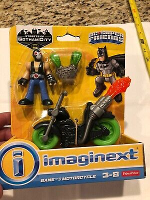 Imaginext DC Super Friends Bane & Motorcycle Figure New In Package