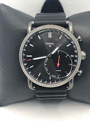 Fossil Q FTW1161 Men's Black Silicone Analog Black Dial Hybrid Smart Watch HK448