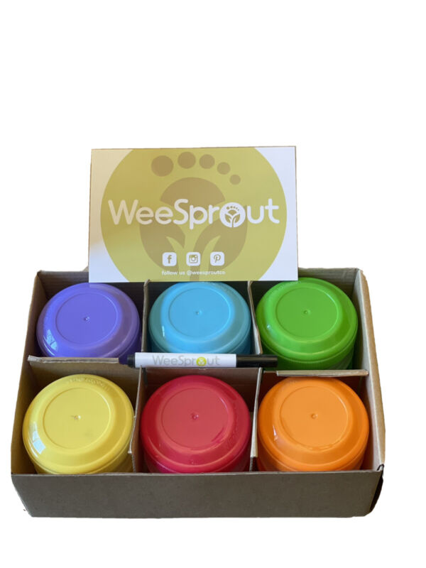 WEESPROUT BABY FOOD CONTAINERS SET OF 12 SMALL 4OZ JARS WITH LEAKPROOF LIDS