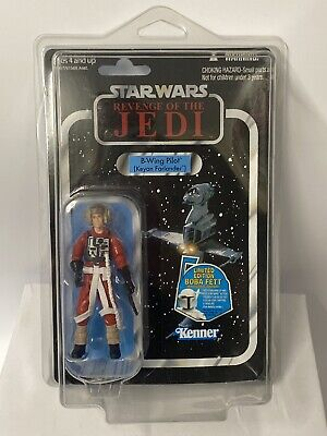 Star Wars Vintage Collection ROTJ VC63 B-Wing Pilot Punched MOC  + Star Case