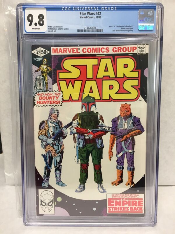 🔥Marvel Star Wars 42 NM/M CGC 9.8 White Pages 1st App Boba Fett and Yoda🔑
