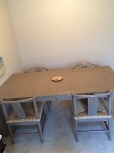 Rustic Pottery Barn Table & Chairs