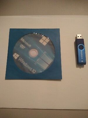 Windows 10 Pro 64 Bit Dvd And Usb Flash Drive Unlimited Installs