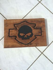 Harley davidson engraved sign