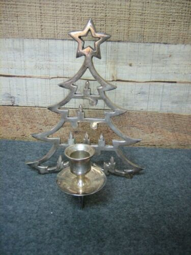 INTERNATIONAL SILVER Co. Christmas Tree Candle Holder