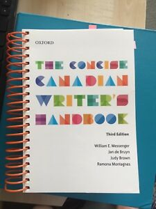 The concise Canadian writer's handbook BRAND NEW