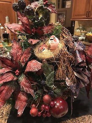 Christmas Holiday Flower Floral Arrangement Poinsettias made by Hallmark -