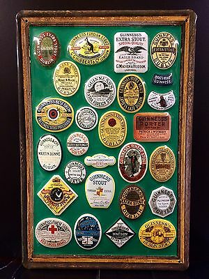 GUINNESS Labels Vtg Metal Pub Sign 3D Embossed Steel Garage Bar Decor,Irish