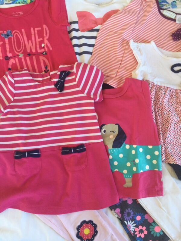 24M Girls Spring Summer Clothing Lot ~ 15 Pieces Macys Carters ~ Very Nice