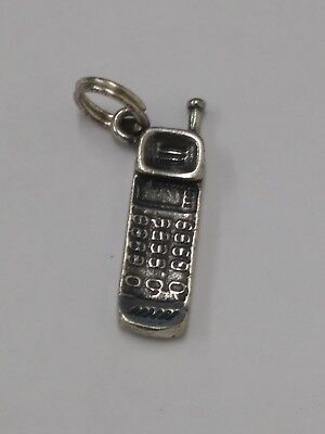 Sterling Silver Old School Cell Phone Charm](Old School Cell Phone)