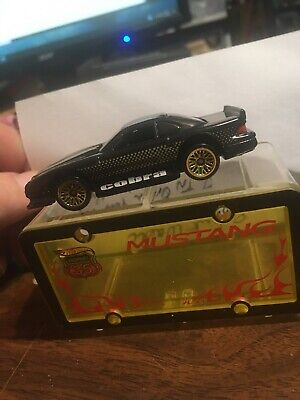 2003 Hot Wheels Highway 35 Park N Plates Mustang Cobra  With Case