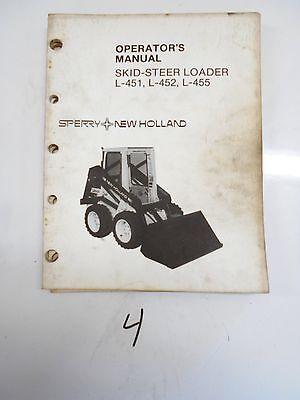 New Holland L-451 L-452 L-455 Skid Steer Loader Operators Manual 42045131 1983