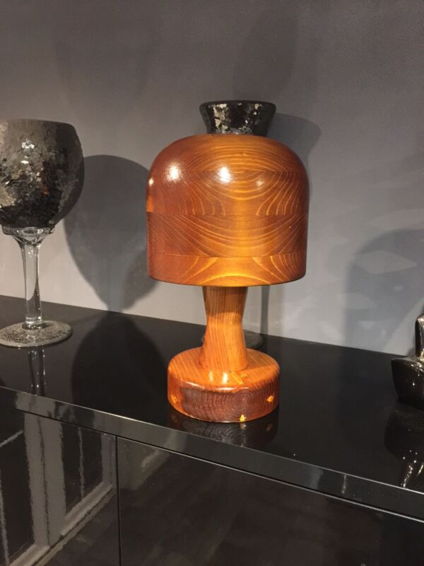 Millinery, WOODEN HAT BLOCK. Oval on Loose Stand, SHOP DISPLAY. Made To order