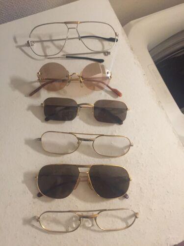 Lunettes cartier d'occasion a reconditionner (vintage sunglasses eyewear frames)