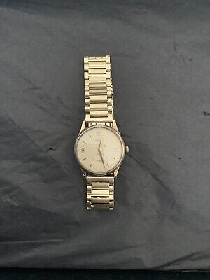 longines 9ct Gold Watch With Rolled Gold Bracelet