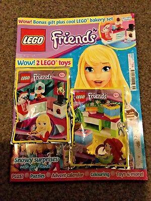 Lego Friends Magazine issue 41 Lego bakery set & bonus toy Wrapping set