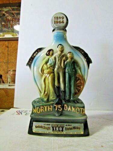Jim Beam North Dakota State Decanter 1889-1964