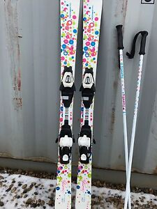 Girls 120cm downhills skis