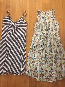 XS/S maternity dresses old navy/thyme