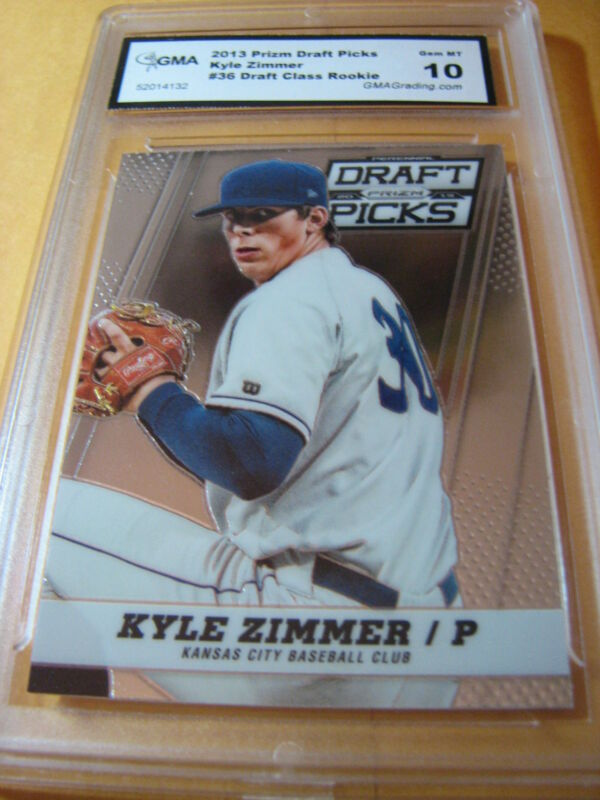 KYLE ZIMMER ROYALS 2013 PRIZM DRAFT PICKS # 36 ROOKIE RC GRADED 10