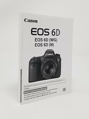 (Canon EOS 6D SLR Camera Instruction Owners Manual Book NEW)
