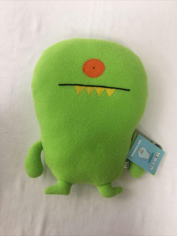 "Uglydoll Winkolina Lime Green 13"" Stuffed Plush 2009 Pretty Ugly"