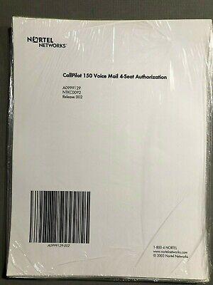 Nortel Norstar Call Pilot 100 Or 150 4-seat Voice Mail Box Keycode Ntkc0092