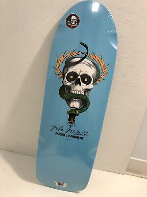 Powell Peralta Mike McGill SNAKE Skateboard Deck NEW SMA Santa Cruz Lite Blue!