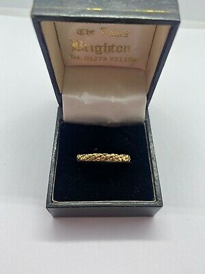 Rare 1970 9ct Gold Band