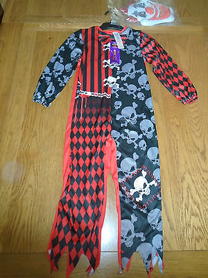 BNWT scary clown halloween fancy dress up. 5-6 yrs.Tesco (Halloween Fancy Dress Tesco)