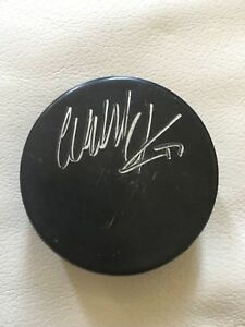 Wendel Clark Autographed Game Used Maple Leafs Puck