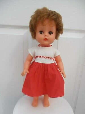 VINTAGE 1960s RODDY VINYL RUBBER DOLL MADE IN ENGLAND 15""