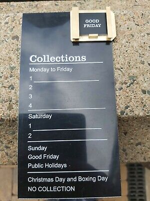 Black Post Box Collection insert Plate and Brass tab holder with tab