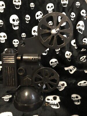 Animated Halloween Party Prop Antique Vintage Movie Projector Lights & Sounds