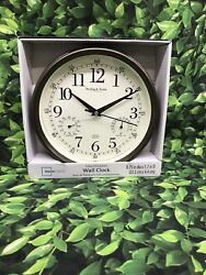 Mainstays Wall Clock Indoor Outdoor. 8.75 In Dis X 1.7 In D (22.2 Cm X 4.4 Cm)