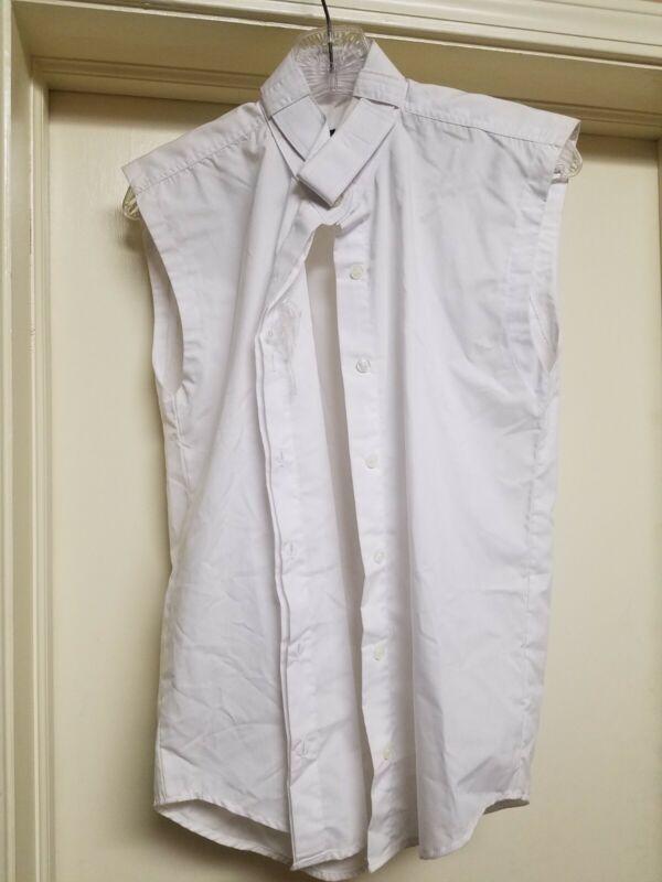 $25 NWOT Abetta Girls 14R Sleeveless Show Shirt white english hunter pony 4H