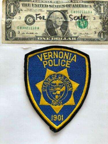 Vernonia Oregon Police Patch Un-sewn great condition