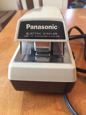 Panasonic As-300 Electric Stapler Commercial Vintage Heavy Duty Works Great