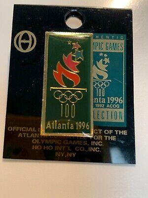 1996 Olympic Pin Atlanta Games Torch Rings 100 Atlanta 1996 Atlanta 1996 Olympics Pin