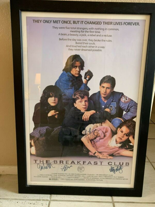 Authentic Breakfast Club Movie Poster with All 5 Autographs!!!