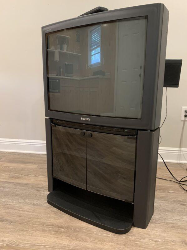 1992 Sony Trinitron XBR KV-27XBR51 Original Stand Speakers Crt TV Retro Gaming