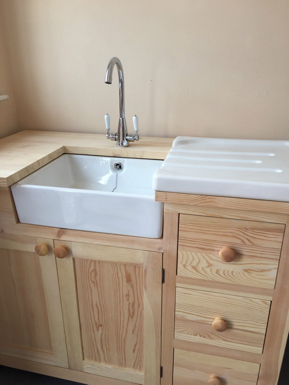 Baby Belfast White Ceramic Sink With Chrome Waste And