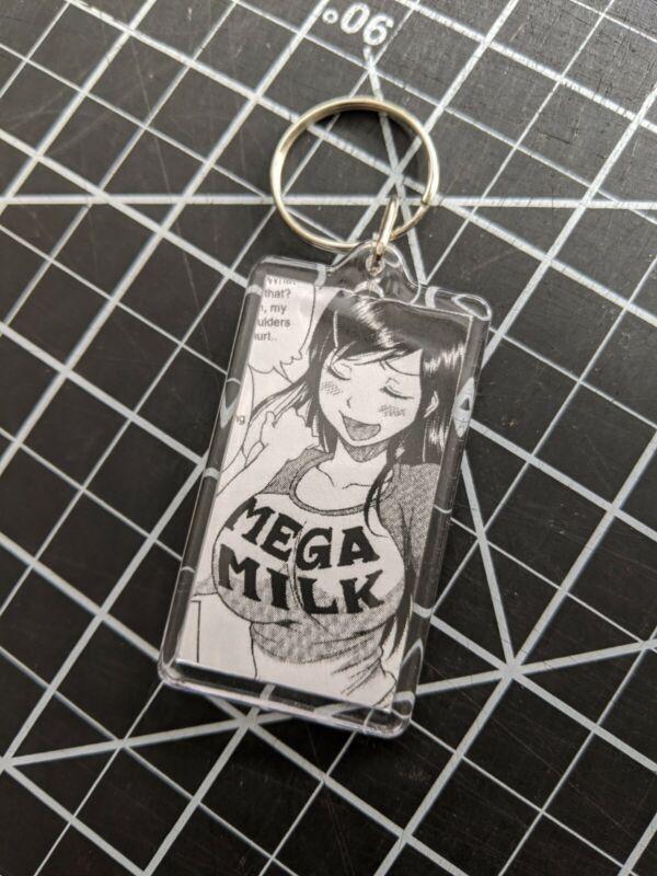 Mega Milk Manga Anime Ecchi Girl Waifu Otaku Lewd Ahegao Key Chain