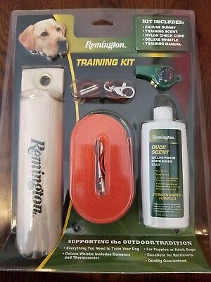 REMINGTON DOG TRAINING KIT DUCK SCENT LEASH CHECK CORD WHISTLE DUMMY FAST SHIP!! Dummy Training Kit